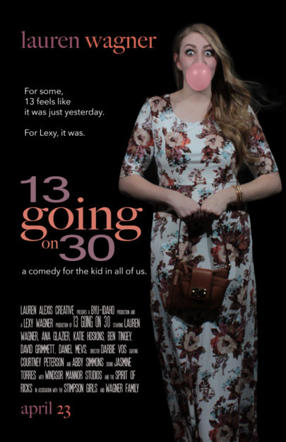 13 going on 30, movie poster remake, romantic comedy poster, romantic comedy spoof, fan art