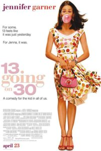13 going on 30, movie poster, movie poster remake