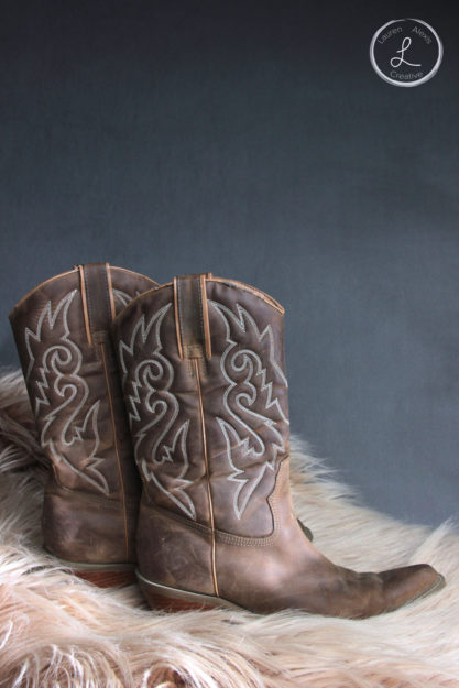 cowboy, cowboy boots, cowboy boots with fur, tan boots, western boots, shoe photography, product photography