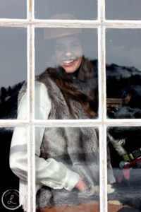 bannack montana, ghost town photography, womens portrait, window portrait, reflection photo,