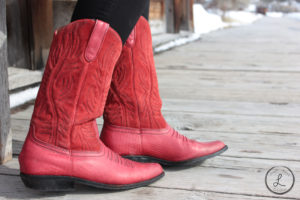 bannack montana, bannack ghost town, ghost town photography, cowgirl, cowgirl boots, red boots, footloose boots