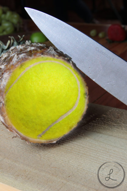 Composite photography, Pineapple and tennis ball, food photography, creative photography, photoshop