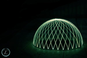 light painting, light painting dome, light painting orb,