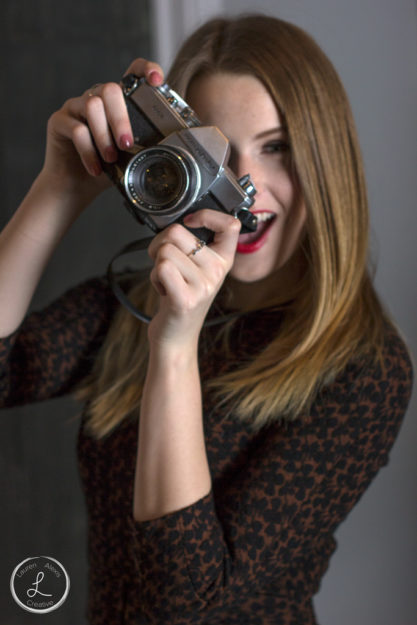 Vintage womens fashion, Womens fashion, womens portrait, Vintage camera, photo with prop, fashion