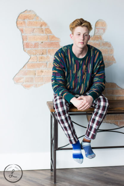 Mens Fashion, Plaid Pants, Cosby Sweater, Mens portrait, stance socks