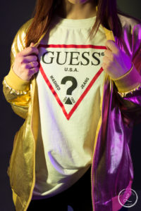 Guess Clothing, Womens fashion, Gold lettermen jacket, golden jacket, womens clothes, womens fashion accessory