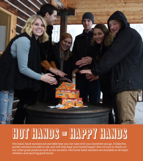 group portrait, winter portrait, hot hands, hand warmers, idaho portrait, hot hands = happy hands